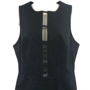 Banana Republic Black CUT OUT Sheath Dress Size 12